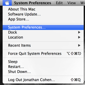 Opening System Preferences