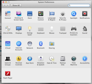 System Preferences in OS X